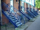 Steps and railings to front of houses - click to enlarge