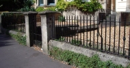 Gate and railings - click to enlarge