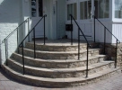 Handrails up steps - click to enlarge